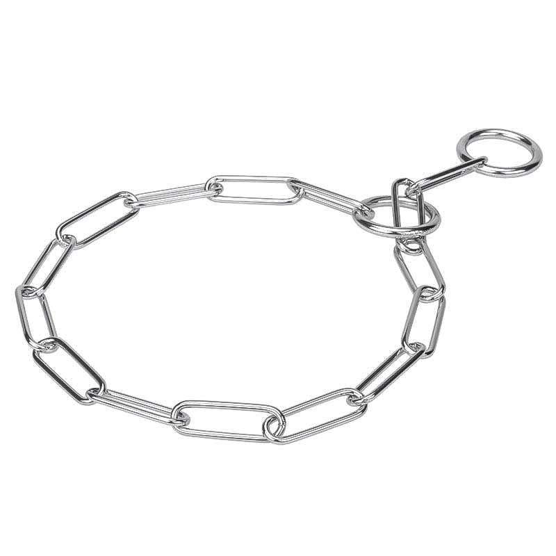 cecc40e85e22 Collar de ahorque de acero cromado para Pastor alemán «Vistazo sonoro»